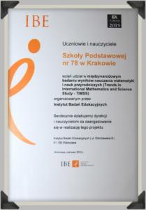 Udział w międzynarodowym badaniu wyników nauczania matematyki - 2015