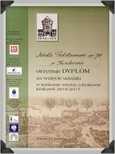 Konkurs Wiedzy o Krakowie - 2017
